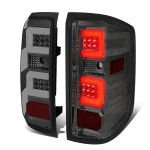 2015 Chevy Silverado 2500HD Smoked LED Tail Lights C-Tube