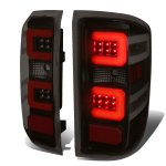2015 Chevy Silverado 2500HD Black Smoked LED Tail Lights Red C-Tube