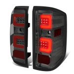 2015 Chevy Silverado 2500HD Smoked LED Tail Lights Red C-Tube