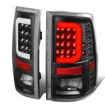 2010 Dodge Ram 2500 Black LED Tail Lights C-Tube