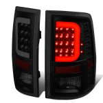 2010 Dodge Ram 3500 Black Smoked LED Tail Lights C-Tube