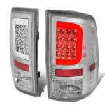 2010 Dodge Ram 3500 Clear LED Tail Lights C-Tube