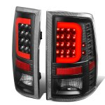 2012 Dodge Ram Black LED Tail Lights Red C-Tube
