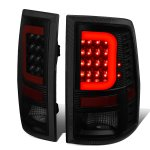 2010 Dodge Ram 3500 Black Smoked LED Tail Lights Red C-Tube