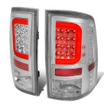 2010 Dodge Ram 3500 Clear LED Tail Lights Red C-Tube