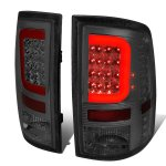 2016 Dodge Ram 3500 Smoked LED Tail Lights Red C-Tube