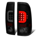 2002 Ford F250 Super Duty Black Smoked LED Tail Lights C-Tube