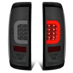 2007 Ford F350 Super Duty Smoked LED Tail Lights C-Tube