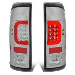 2001 Ford F250 Super Duty Clear LED Tail Lights Red C-Tube