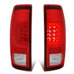 2002 Ford F250 Super Duty LED Tail Lights Red C-Tube