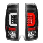 2013 Ford F450 Super Duty Black LED Tail Lights C-Tube