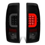 2013 Ford F450 Super Duty Black Smoked LED Tail Lights C-Tube