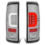 2013 Ford F450 Super Duty Clear LED Tail Lights C-Tube