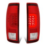 2013 Ford F450 Super Duty Red LED Tail Lights C-Tube