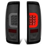 2013 Ford F450 Super Duty Smoked LED Tail Lights C-Tube