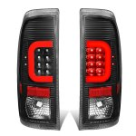 2013 Ford F450 Super Duty Black LED Tail Lights Red C-Tube