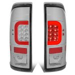 2012 Ford F250 Super Duty Clear LED Tail Lights Red C-Tube