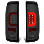 2013 Ford F450 Super Duty Smoked LED Tail Lights Red C-Tube