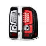 Chevy Silverado 2007-2013 Custom LED Tail Lights Black Clear