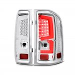 2007 Chevy Silverado 2500HD Custom LED Tail Lights Chrome Clear