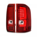 Chevy Silverado 2007-2013 Custom LED Tail Lights Red