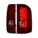 Chevy Silverado 2007-2013 Custom LED Tail Lights Red Smoked