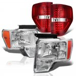 Ford F150 2009-2014 Headlights and LED Tail Lights