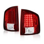 Isuzu Hombre 1996-2000 Red and Clear LED Tail Lights