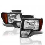 2013 Ford F150 Black Euro Headlights