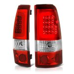 Chevy Silverado 3500 2001-2002 Red LED Tail Lights Tube