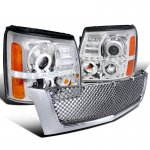Cadillac Escalade 2002-2006 Chrome Grille and Projector Headlights