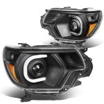 Toyota Tacoma 2012-2015 Black Projector Headlights Tube DRL