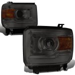 GMC Sierra 2014-2015 Smoked Projector Headlights