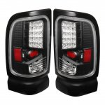 Dodge Ram 2500 1994-2002 Black LED Tail Lights