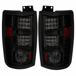 1999 Ford Expedition Black Smoked LED Tail Lights