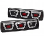 Ford Mustang 1987-1993 Black LED Tail Lights