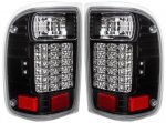 1998 Ford Ranger Black LED Tail Lights