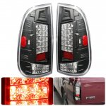 1999 Ford F150 Black LED Tail Lights