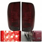 2003 Ford F450 Super Duty Tinted LED Tail Lights