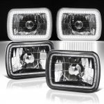 1986 Chevy C10 Pickup Black SMD LED Sealed Beam Headlight Conversion
