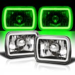 1994 Jeep Cherokee Black Green Halo Tube Sealed Beam Headlight Conversion