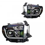 Toyota Tundra 2014-2017 Black Projector Headlights LED DRL