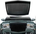 Chrysler 300 2005-2010 Black Phantom Style Vertical Grille