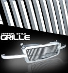 2005 Chevy Avalanche Chrome Vertical Grille