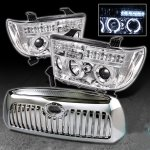 2009 Toyota Tundra Chrome Grille and Projector Headlights