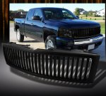 Chevy Silverado 2007-2013 Black Vertical Grille
