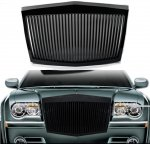 Chrysler 300C 2005-2010 Black Phantom Style Vertical Grille