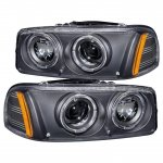 GMC Sierra 1999-2006 Black Projector Headlights