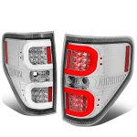 Ford F150 2009-2014 Clear LED Tail Lights C-Tube