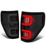 Ford F150 2009-2014 Smoked LED Tail Lights C-Tube